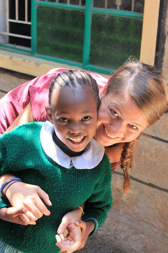 volunteer with safisha student